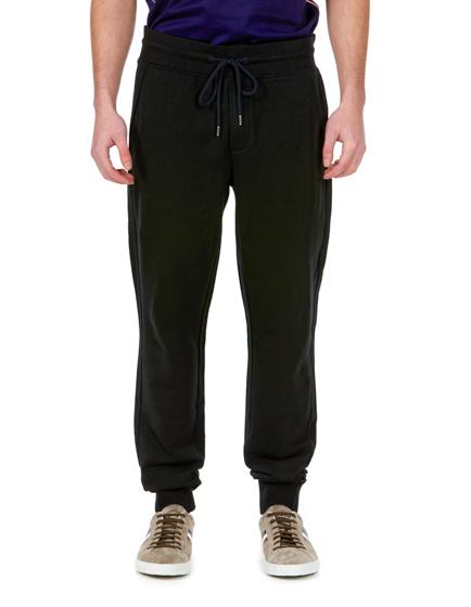 Moncler Men s Cotton Jersey Tracksuit Bottoms Black - Linea Fashion 398bbe91617d