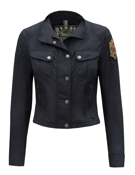 MATCHLESS RACEFARER REBEL LADIES STRETCH NYLON BLOUSON BLACK