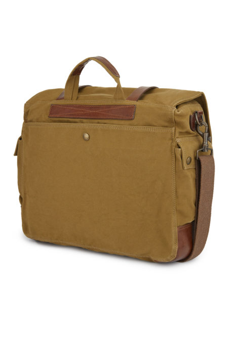 Belstaff Colonial Messenger Men's Canvas Shoulder Bag Khaki BACK