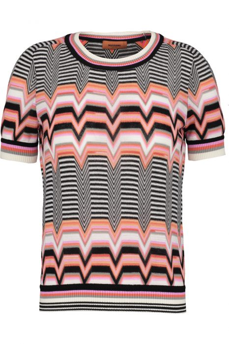 Missoni Women's Zigzag Knitted Top Pink