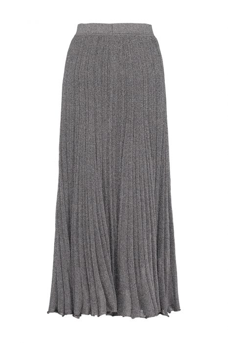 Missoni Women's Long Pleated Stretch Lurex-Knit Skirt Silver BACK
