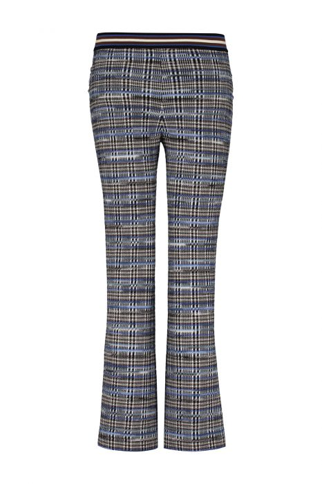 Missoni Women's Slim-leg Wool-blend Checked Trousers Blue BACK