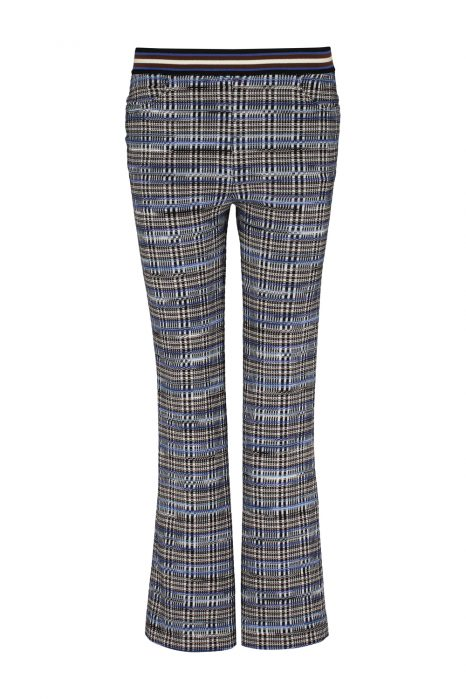 Missoni Women's Slim-leg Wool-blend Checked Trousers Blue FRONT
