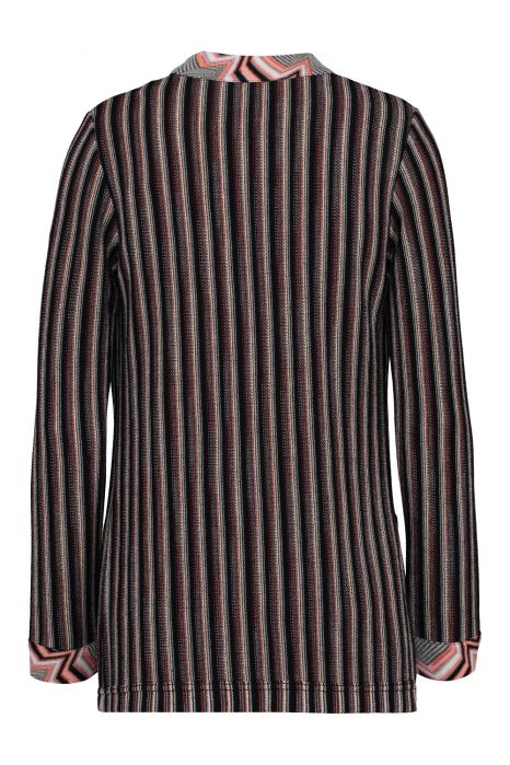 Missoni Women's Striped Crochet-Knit Cardigan Pink BACK