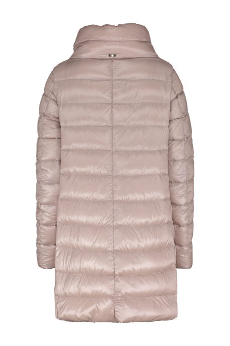 Herno Ladies Satin Nylon Ultralight Quilted Down Coat Pink BACK