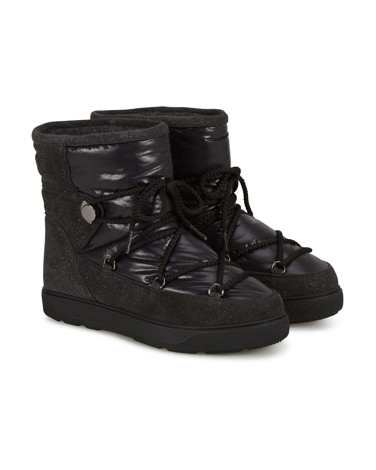 Moncler New Fanny Women s Padded Snow Boots Black - Linea Fashion ce4303db1a8