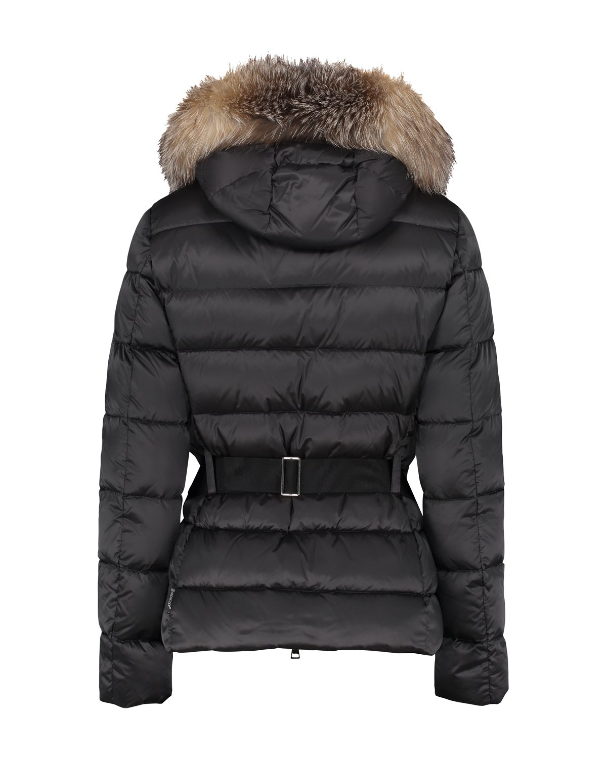 Moncler Tatie Women's Belted Down Quilted Shell Jacket Black