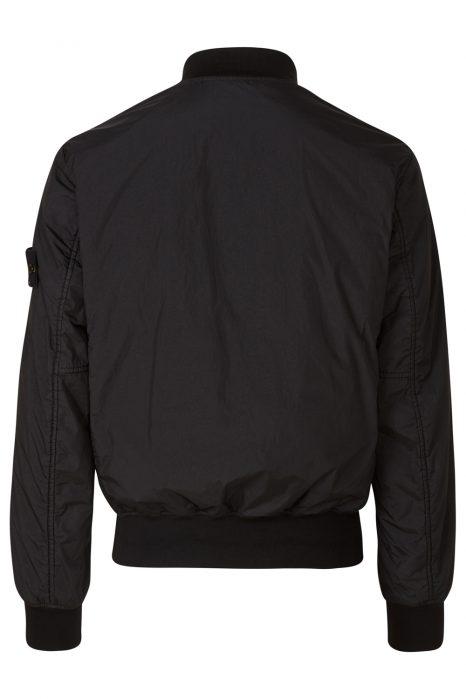 Stone Island Men's Garment-dyed Bomber Jacket Black BACK