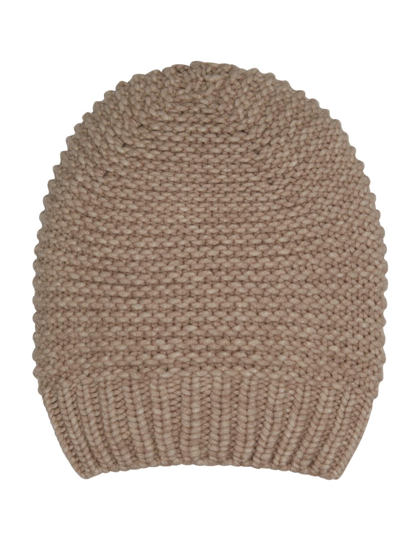 eb0bfcd7cfa60 Fabiana Filippi Women s Sparkly Wool Knitted Beanie Hat Beige ...