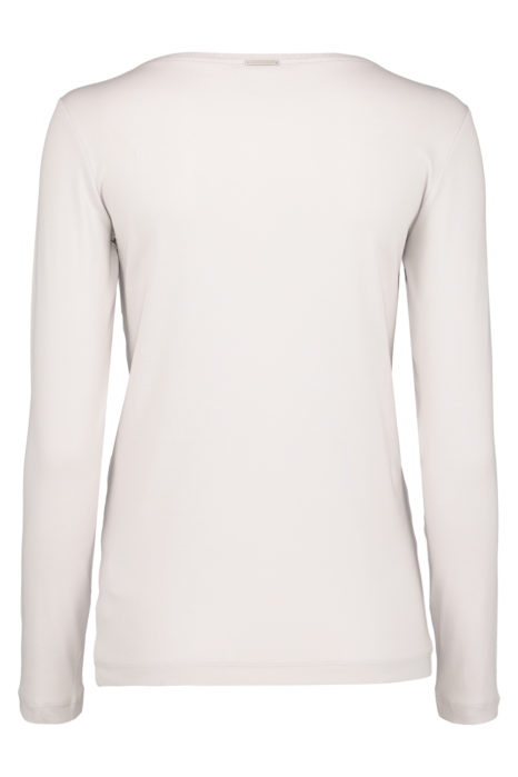 Fabiana Filippi Women's Cotton-Jersey Long Sleeve T-shirt Cream BACK