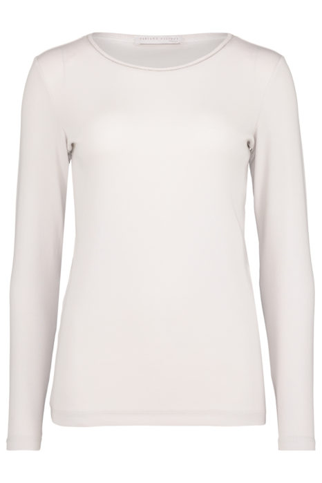 Fabiana Filippi Women's Cotton-Jersey Long Sleeve T-shirt Cream FRONT