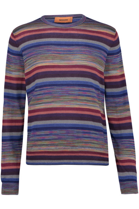 Missoni Men's Cotton Stripe Knitted Top Multicoloured FRONT