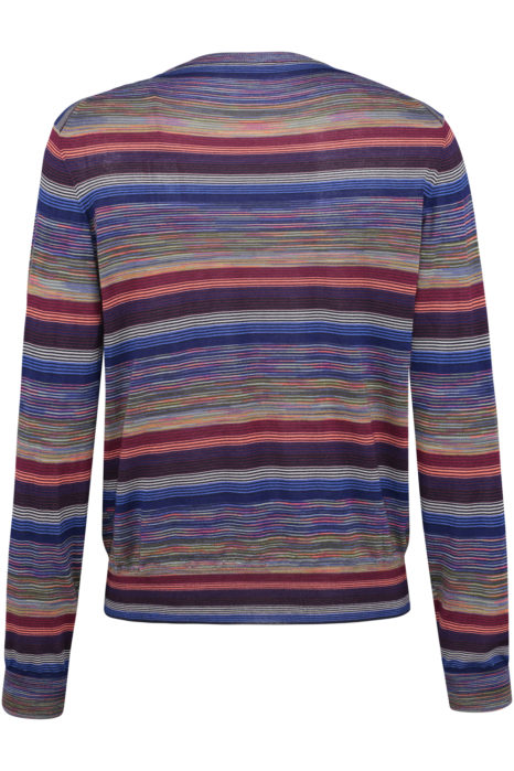 Missoni Men's Cotton Stripe Knitted Top Multicoloured BACK