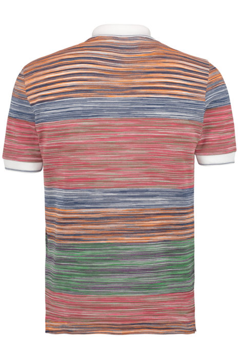Missoni Men's Cotton Striped Polo Shirt Multicoloured BACK