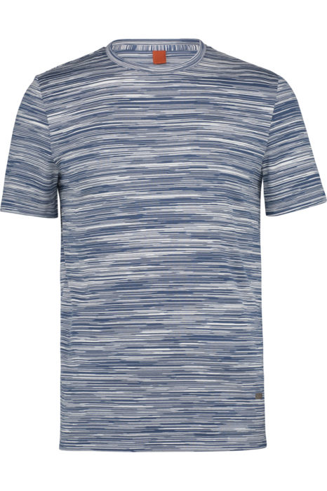 Missoni Men's Cotton Printed Pattern T-shirt Blue FRONT