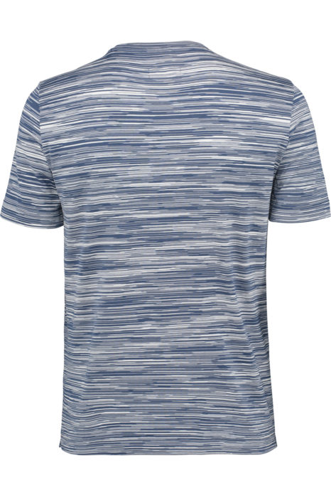 Missoni Men's Cotton Printed Pattern T-shirt Blue BACK
