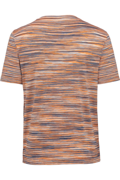Missoni Men's Cotton Printed Pattern T-shirt Orange BACK