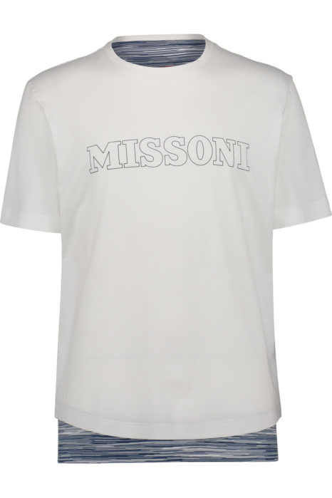 Missoni Men's Cotton Logo T-shirt White FRONT
