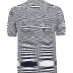 Missoni Men's Cotton Space-Dye Knitted Polo Shirt Navy BACK