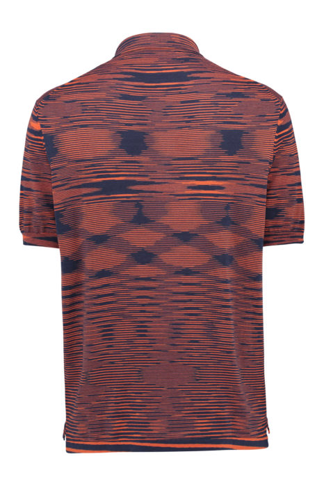Missoni Men's Cotton Space-Dye Knitted Polo Shirt Red BACK