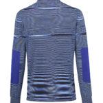 Missoni Men's Cotton Moiré Knitted Polo Shirt Blue BACK