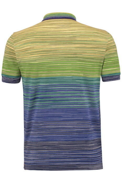 Missoni Men's Cotton Ombré Striped Polo Shirt Green BACK