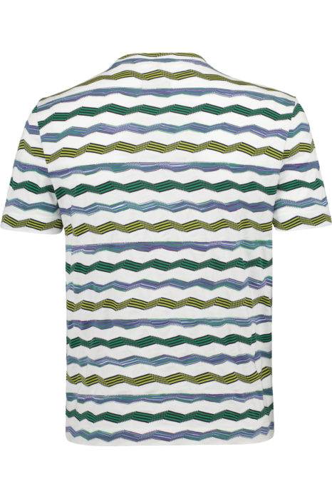 Missoni Men's Cotton Chevron Knitted Top Green BACK