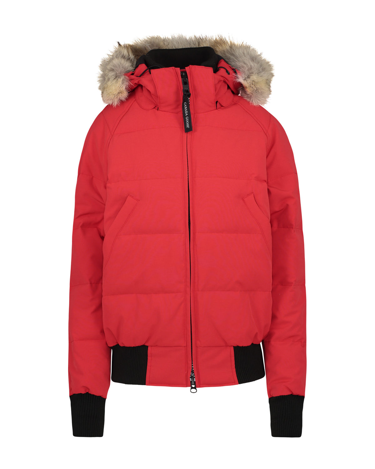 canada goose bomber jacket red