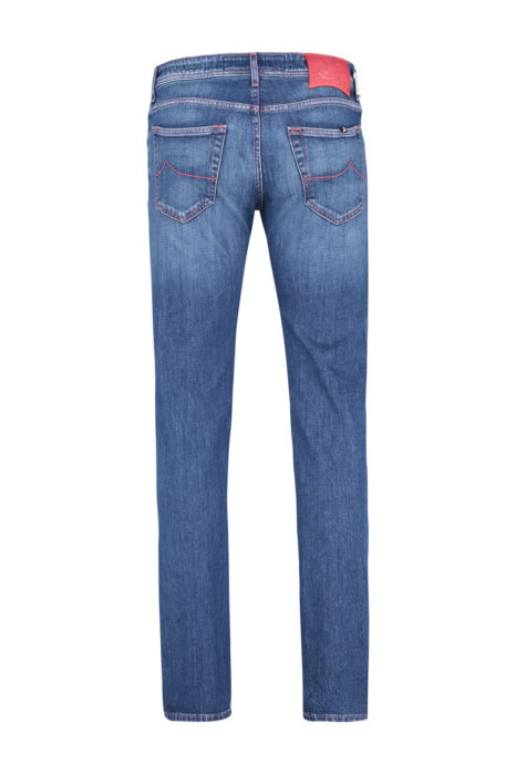 Jacob Cohën Men's PW622 Slim Comfort Fit Jeans Blue BACK