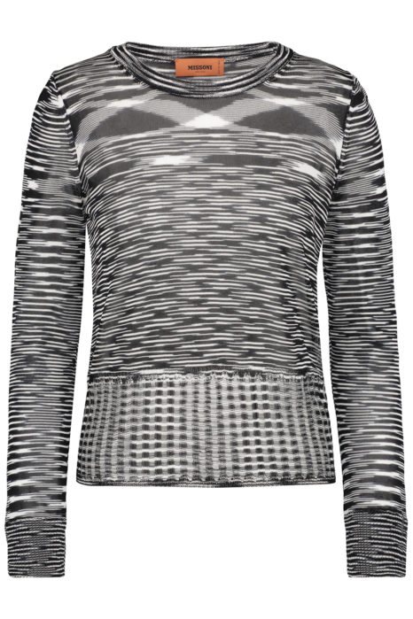 Missoni Women's Knitted Space-dye Top Black FRONT