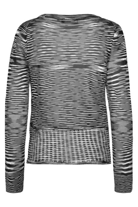 Missoni Women's Knitted Space-dye Top Black BACK
