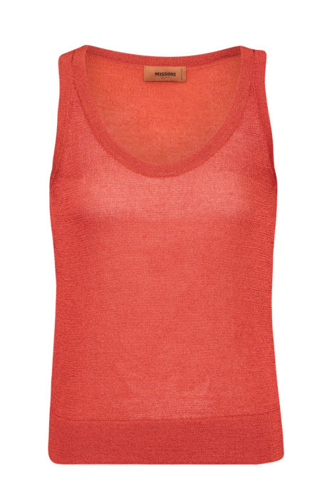 Missoni Women's Lurex Tank Top Orange FRONT