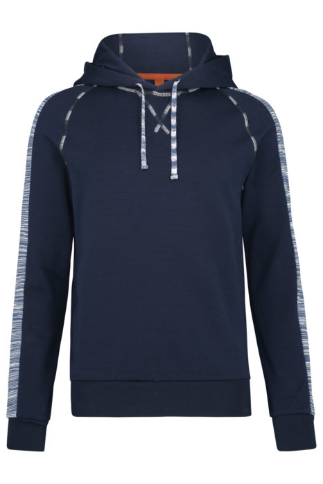 Missoni Men's Cotton Hoodie Navy FRONT