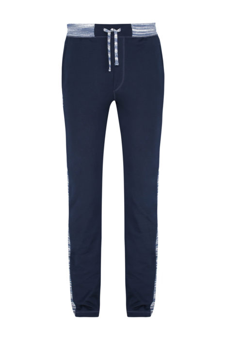 Missoni Men's Cotton-Jersey Jogging Bottoms Navy FRONT