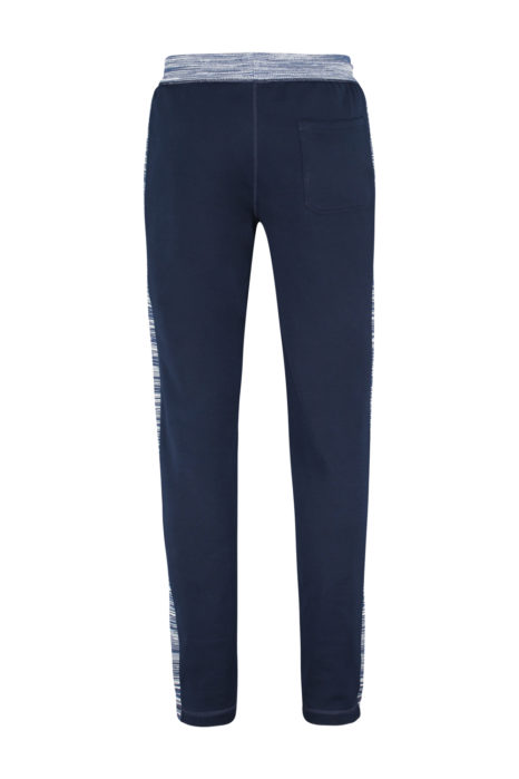 Missoni Men's Cotton-Jersey Jogging Bottoms Navy BACK