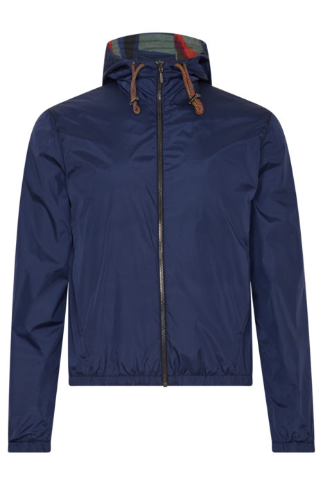 Missoni Men's Reversible K-way Jacket Blue FRONT