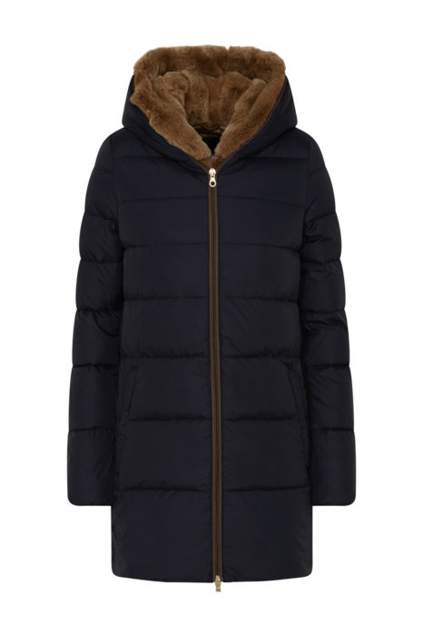 Duvetica Carys Ladies Quilted Down Coat Navy FRONT