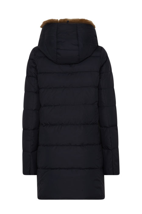 Duvetica Carys Ladies Quilted Down Coat Navy BACK