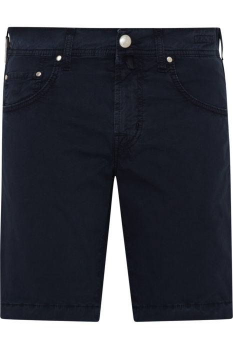 Jacob Cohën Men's Comfort Fit Chino Shorts Navy FRONT