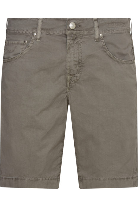 Jacob Cohën Men's Comfort Fit Chino Shorts Taupe Grey FRONT