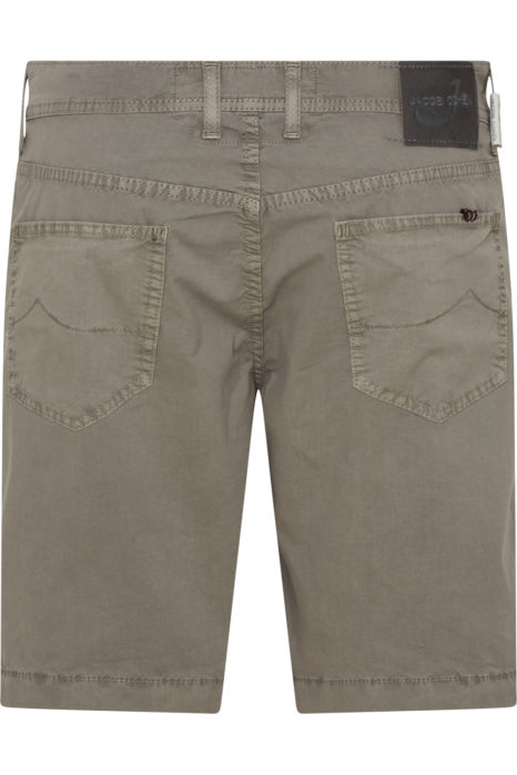 Jacob Cohën Men's Comfort Fit Chino Shorts Taupe Grey BACK