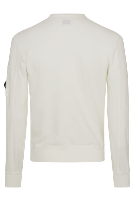C.P. Company Crew Neck Sweatshirt White BACK