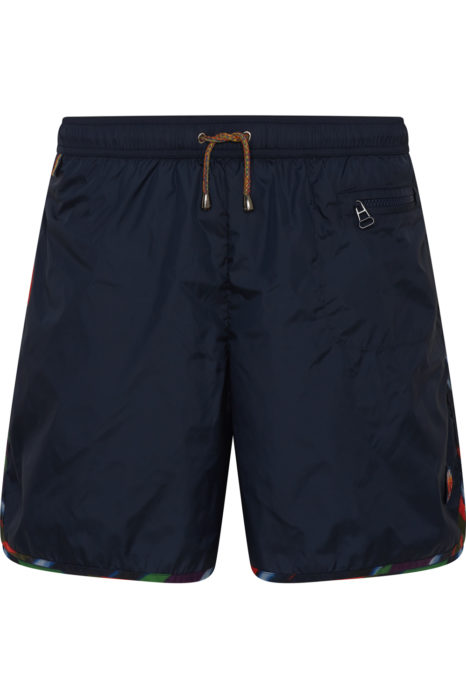 Missoni Men's Zigzag Trim Swim Shorts Navy FRONT