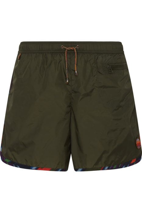 Missoni Men's Zigzag Trim Swim Shorts Green FRONT