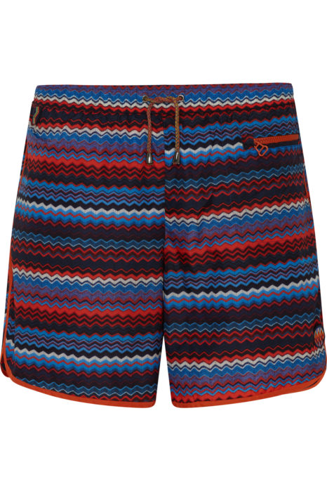 Missoni Men's Zig Zag Swim Shorts Blue FRONT