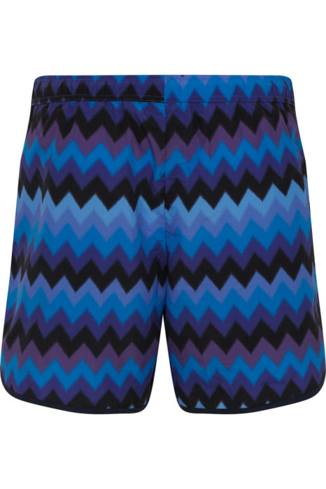 Missoni Men's Large Zig Zag Swim Shorts Blue BACK