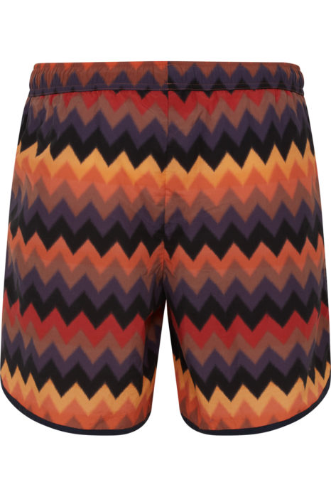 Missoni Men's Large Zig Zag Swim Shorts Orange BACK
