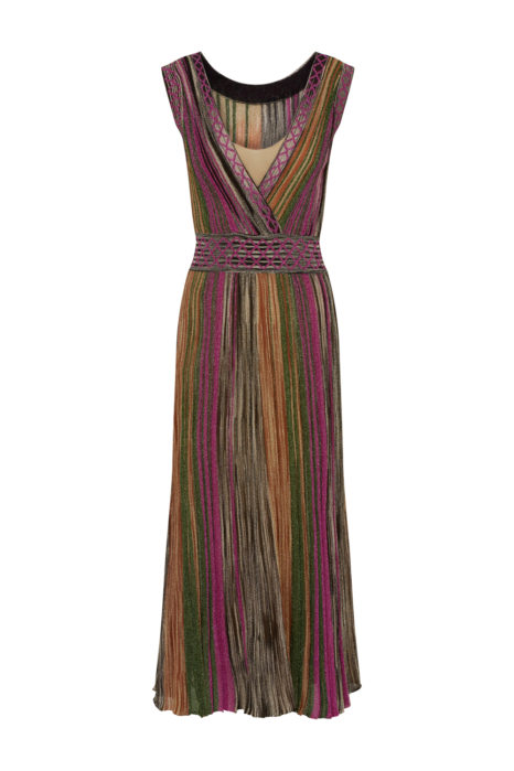Missoni Women's Metallic Knitted Dress Multicoloured FRONT