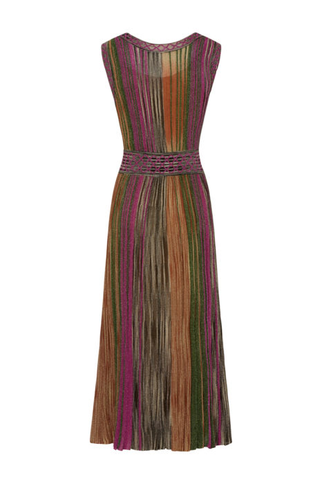 Missoni Women's Metallic Knitted Dress Multicoloured BACK