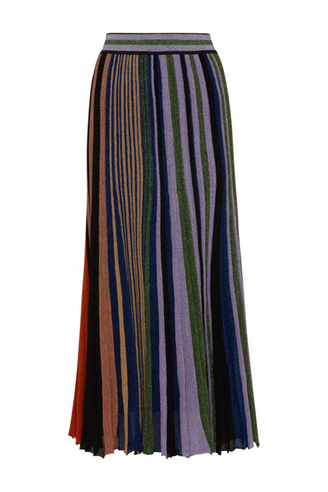 Missoni Women's Pleated Metallic Maxi Skirt Multicoloured BACK